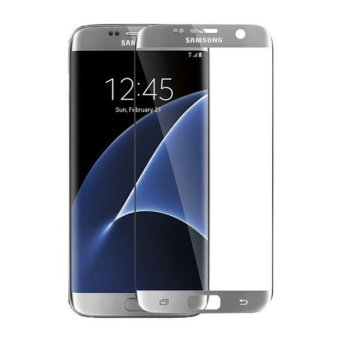 HMC Samsung Galaxy S7 edge - 3D Full Screen Tempered Glass 2016 +Curved + Lis Silver
