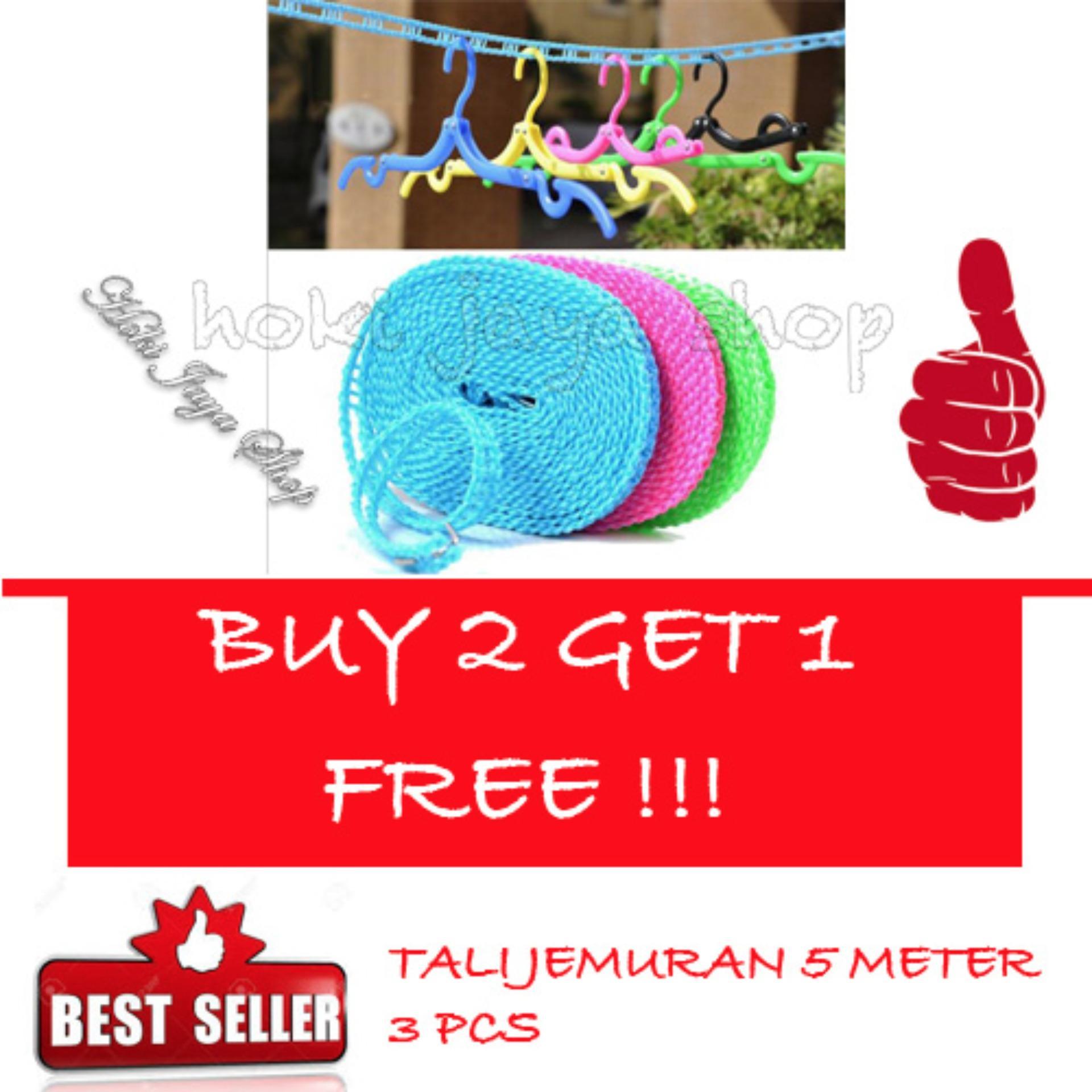 ... 23.888, Update. [BELI 1 GRATIS 1] Best Tali Jemuran 5 meter Serbaguna / Baju Handuk Hanger - Gantungan Baju- HIJAU ...
