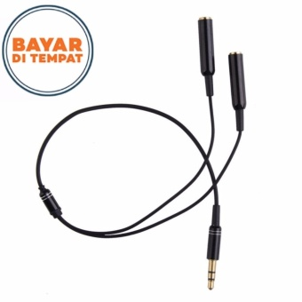 Howell 3.5mm Jack Earphone Audio Splitter Adapter 1 Male to 2 Female Extension Aux Cable