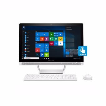 """HP PC All In One 24-B215D - Intel Core i5-7400 - 4GB - 1TB - VGA - 23.8""""Touchscreen - Windows 10 SL - Putih"""