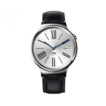 Huawei Watch Stainless Steel with Black Suture Leather Strap (U.S.Warranty)
