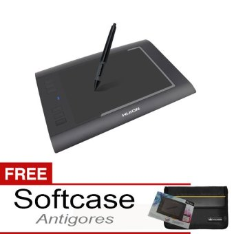HUION H58L Pen Tablet Graphic Drawing + Free Softcase dan Antigores