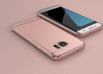 Hybrid 3 In1 Phone Case dengan Full HD cakupan Tempered Glass / Hard plastik PC Matte ponsel pelindung kembali Cover Shell untuk Galaxy S7 Edge - 5