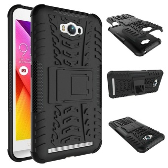 Hybrid Rugged Heavy Duty Armor Hard Cover Case for ASUS Zenfone MaxZC550KL 5.5 Inches Stand Case with Kickstand - intl