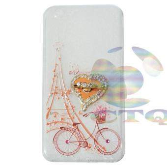 Icantiq Case Oppo F1s Selfie Expert A59 Softshell Mutiara Animasi Vintage Sepedah Paris Holder Ring