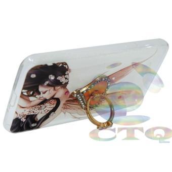 Icantiq Case Samsung Galaxy J2 Prime Softshell Swarovski AnimasiPeri Bidadari Holder Ring Hati .