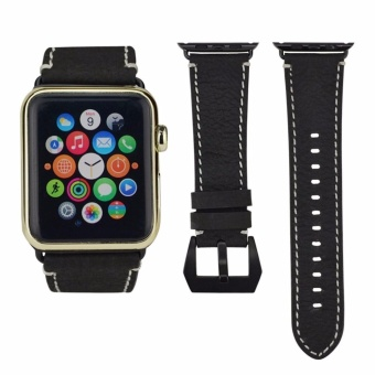 ICHECKEY Pommel horse retro models 42mm Leather Apple iWatch Smart Watch Sport Band Quick Release Bracelet Strap Wristband Replacement Watchband for Apple Watch Band Series 1 Series 2 - intl - 4
