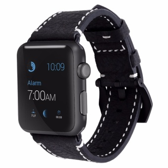 ICHECKEY Pommel horse retro models 42mm Leather Apple iWatch Smart Watch Sport Band Quick Release Bracelet Strap Wristband Replacement Watchband for Apple Watch Band Series 1 Series 2 - intl