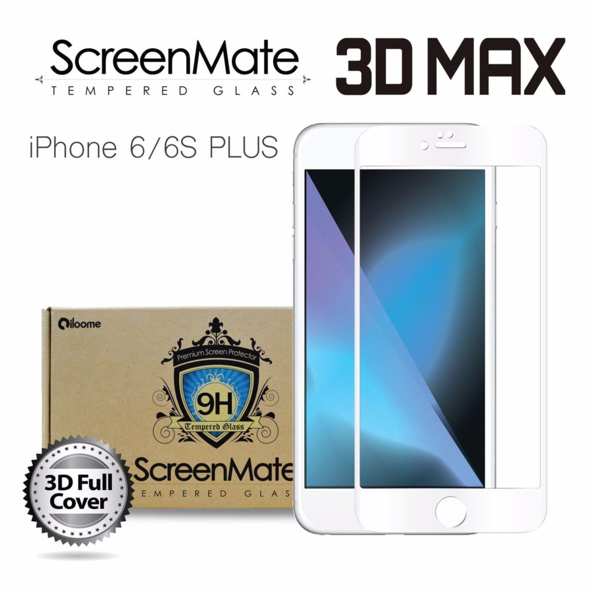 4d Full Curved Tempered Glass Warna Screen Cover Protector For Iphone 6 6s Plus 3d Clear Premium Iloome Screenmate Max Iphone6 Or
