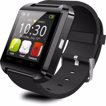 Harga Great U8 Smartwatch For Android Rubber Strap - Hitam