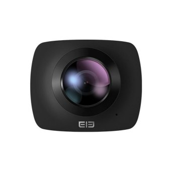 Harga Elephone Elecam 360 Video Camera 360 Degrees Panorama Camera Action Camera - Black + Gratis tripod dan TF card