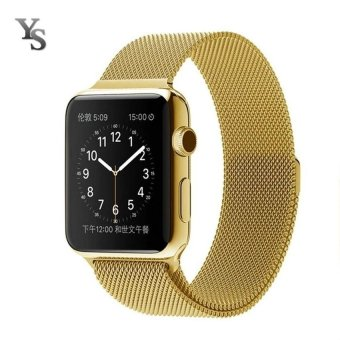 Harga New Milanese Loop Watch Strap For Apple Watch Band 38mm Silver link bracelet Stainless Steel Woven iwatch watchband (Silver) - intl
