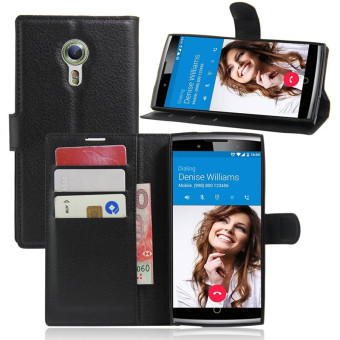 Harga Wallet Flip Leather Case For Alcatel Flash 2/Alcatel OneTouch Flash 2 (Black) - intl