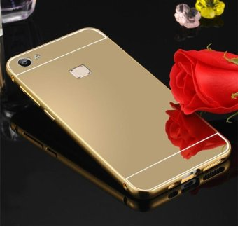 Harga Metal frame mobile phone case electroplating mirror phone protection shell for Vivo X5 pro - intl