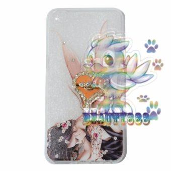 Beauty Case For Oppo A39 Softshell Swarovski Animasi Fairy Girls + Holder Ring Love Soft Case