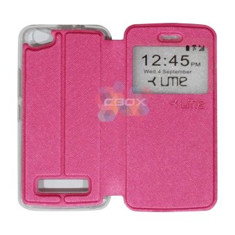 Harga Ume FLip Leather Phone Cover for Himax M2 Sarung Case / Flipshell / FlipCover / Leather Case / Sarung HP / View - Pink
