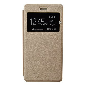 Harga Smile Flip Cover Case Lenovo A7000 - Gold