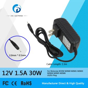 Siu Hong 12V 1.5A 30W Ac Laptop Power Adapter Charger For Motorola Xoom Mz600 Mz601