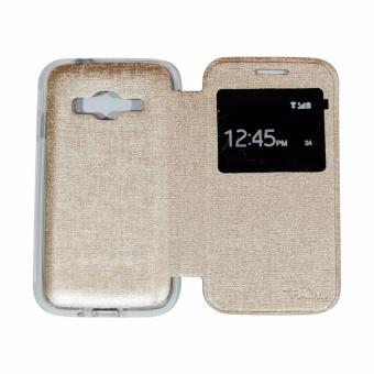 Harga AIMI Samsung Galaxy J1 Mini Prime V2 Flipcover / Flipshell / Sarung Case / Sarung HP / Leather Case Syntetic - Gold