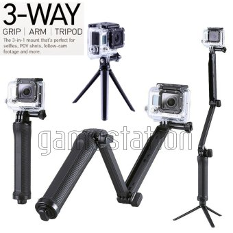 Harga GStation 3-Way Adjustable Monopod for Gopro/SJCam/Brica Bpro/Xiaomi Yi
