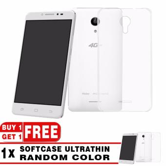 Softcase Silicon Ultrathin for Smartfren Andromax L - White Clear + Free Softcase Ultrathin Random Color