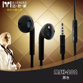 Harga MSH 202 Original Handsfree / Headset / Earphone (Black) For All Type Phone