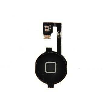 Harga HomeGarden Hot Replacement Home Button Key With Repair Part Flex Cable For iphone 4G (Black)