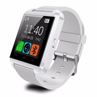 Harga U80 Bluetooth Smart Watch Fashion Android Watch Sport Wrist LED Watch Pair For Android Phone U8 U9 Smartwatch (White) - intl