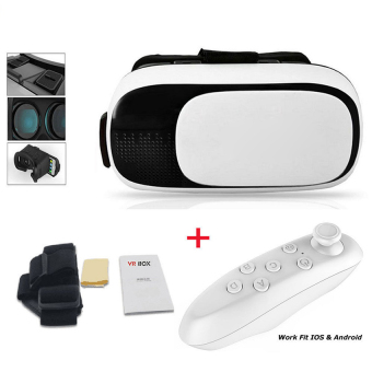 Harga Cocotina VR Headset Virtual Reality VR BOX Goggles 3D Glasses Google Cardboard Remote - intl