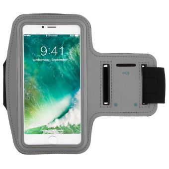 Gym olahraga lari jogging Case Armband penutup dudukan untuk iPhone 7 abu- abu - International