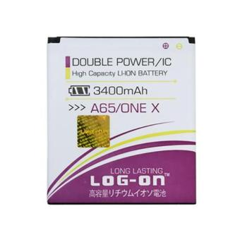 Harga LOG-ON Battery For Evercoss A65/ ONE X- 3400mAh Double Power & IC - Garansi 6 Bulan