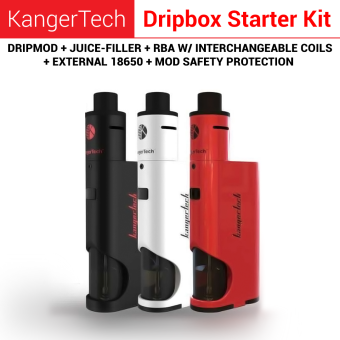 Harga Kanger DRIPBOX Starter kit KangerTech Authentic BLACK