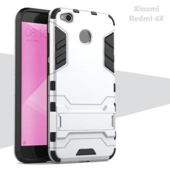Case Iron Man for Xiaomi Redmi 4X Robot Transformer Ironman Limited - Silver