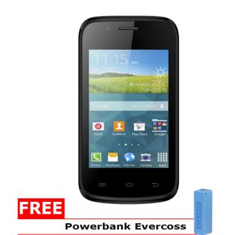 Harga Evercoss A33E - 512MB - Hitam + Gratis Powerbank Evercoss