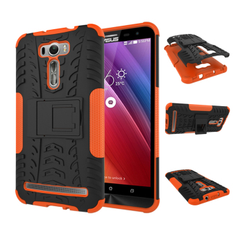 "Harga For ASUS ZenFone 2 Laser Case ZE601KL (6.0"") Case Heavy Duty Rugged Hybrid Dual Layer Kickstand Shockproof Protective Case Cover for ZenFone 2 Laser (6.0 inch) (Orange)"