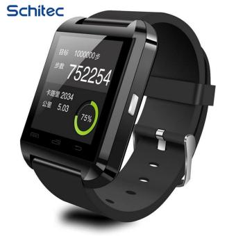 Harga U8 Bluetooth smart wrist watch worn adult children smart phone watch Bluetooth music sport watch connection Android mobile phone for huawei xiaomi - intl