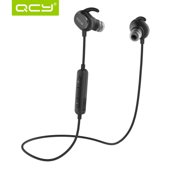 Harga QCY QY19 Headphone In-Ear Stereo Sport Bluetooth v4.1 Sweatproof - Hitam