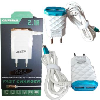 Harga Grade AA 888 2,1A 15W Smart Fast Charger With 3 Outputs