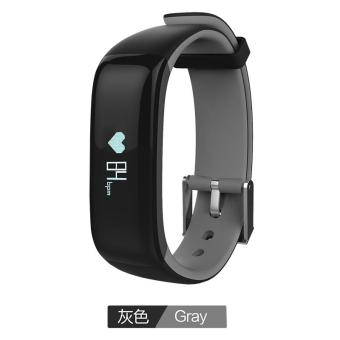 Harga P1 Bluetooth 4.0 Waterproof IP67 Smart Wristband Smartband Blood Pressure Monitor Heart Rate Monitor Smart Bracelet Fitness Tracker Smart Band for Android and IOS - Gray - intl