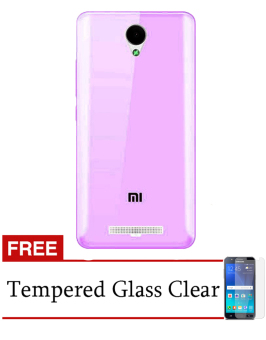 Harga Accessories Hp For Xiaomi Redmi Note 2 Softcase Ultrathin - Ungu Clear - Free Tempered Glass