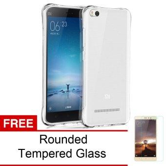 Calandiva Shockproof TPU Ultrathin Case for Xiaomi Mi4i / Mi4c - Clear + Gratis Rounded Tempered