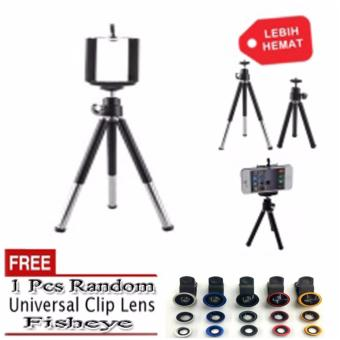 Harga FDT Mini Tripod U Holder Black FREE 1Pcs FishEye Random