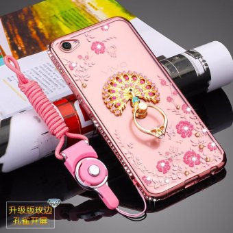 Harga Secret Garden Diamond TPU Back Case Cover For Vivo X9 Plus (Peacock Rose Gold) - intl