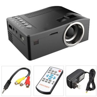 Harga UC18 Full HD 1080P LCD LED Home Theater Cinema Mini Portable Projector with USB TV VGA SD AV Support - intl