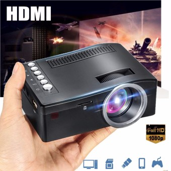 Harga Full HD 1080P Input Multimedia Home Theater LED Mini Projector Cinema TV VGA MH- intl