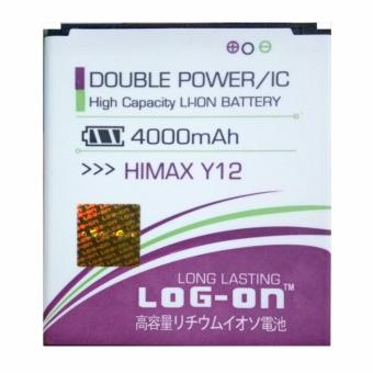 Harga Log On Baterai Himax Y12 - Double Power Battery - 4000 mAh