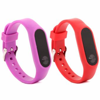 Harga 2 PCS multicolour Replacement Strap for Xiaomi Mi Band 2 Band Smart Bracelet Accessories - intl