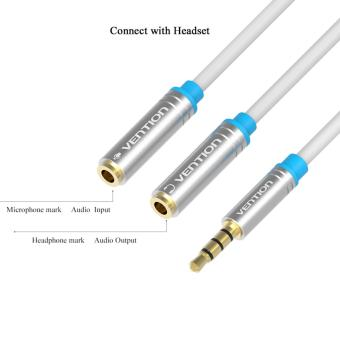 Harga Vention [BBB] Kabel Aux Audio Splitter 3.5mm Male to 2 Female