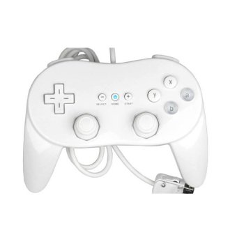 Harga White Wired Classic Controller Pro for Nintendo Wii Remote Console Video Game