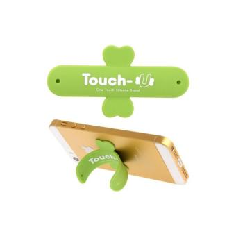 Central Ploso Penyangga HP Touch-U One Touch Silicon Stand - Green